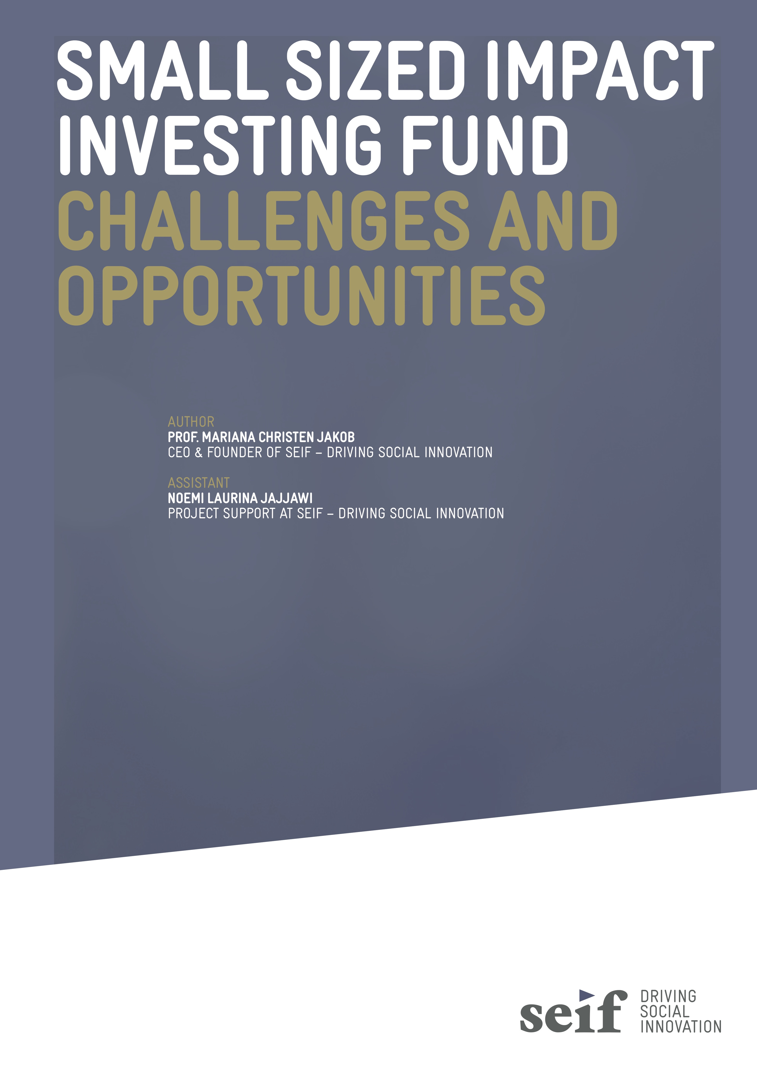 Small Sized Impact Investing Fund - SEIF